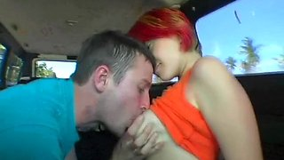 mischievous gal fucked in a car movie