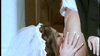 Lesbian bride Chasey Lain getting licked by her stunning lesbian groom