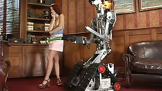 Robot love with a desirable babe Sarah Blake