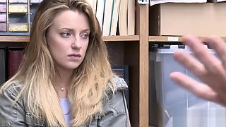 Corrupt policeman fucks a hot blonde in his office