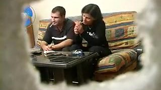 Amateur Turkish wife with Russian man while hubby was away