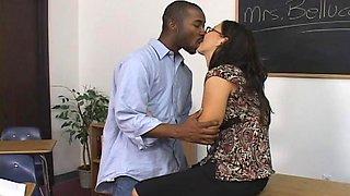 Next Door Mommies: Brunette teacher seduced by black cock