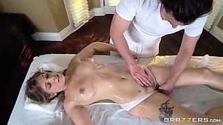 sucking the masseur's cock