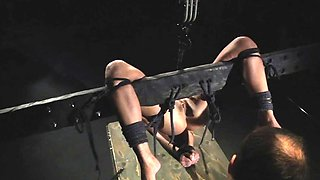 Tied up teen spanking fetish BDSM hardcore mouth fucked