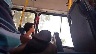 Flashing dick in bus top