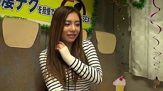 Japanese cutie Mei Matsumoto is enthusiastic about receiving a manhood