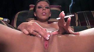 Sexy Smoker Rachel Starr Pleasuring Her Salf