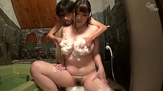 Crazy Japanese whore Chitose Saegusa in Amazing showers, couple JAV video