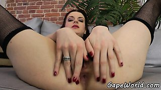 Eurobabe assfucked in gapping asshole