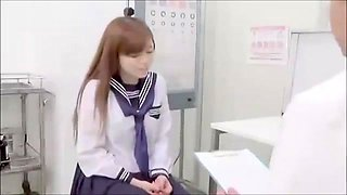 Dazzling Asian schoolgirl gets nailed hard by a horny doctor