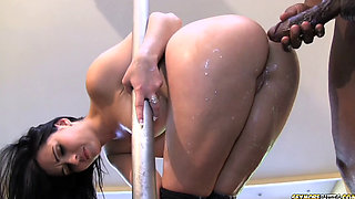 Angell Summers Squirts and Takes a Nasty Anal Pounding from a Big Fat Black Dick