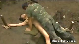 Japanese female soldier forced sex