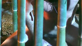 Mesmerizing and sporty hot bitch boned hard in the cage