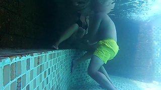 Wife hotel pool holiday vs boy