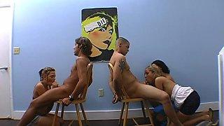 raunchy foursome sex teen porn 1