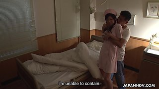 Beautiful and kawaii Japanese nurse Sara Yurikawa loves riding cock