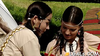 two girls have lesbo fun film clip 1