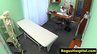 POV filmed eurobabe drilled by doctor