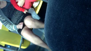 Mature Upskirt in the Bus