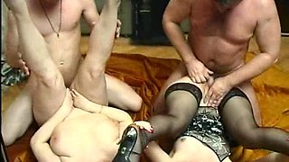 Swinger couple invite their neighbors over for a juicy foursome