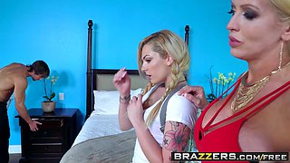 Brazzers - Dirty Masseur - Alura Jenson Dahlia Sky and Jean Val Jean -  Lets Massage The Babysitter