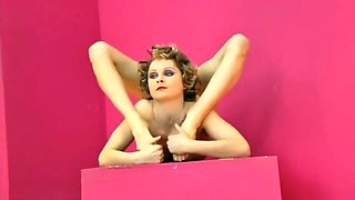 Extreme Contortionist Tanya Balahnina In A Lace Thong