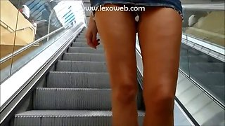 Rubbing my clit buttplugged in a train station &amp aboard the train