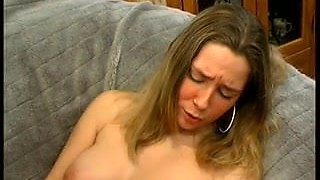 Coed in long anal drilling