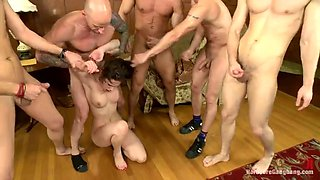 gangbanged and forced to swallow cum