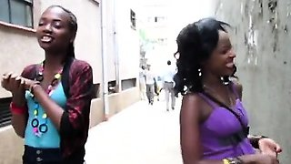 African couple of stunning babes are the nastiest lesbians