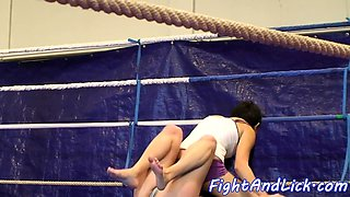 Euro lesbians wrestling with passion