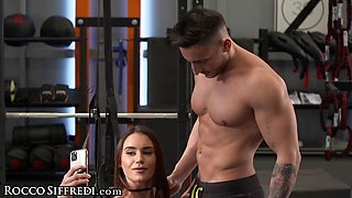 Sweet Tight Petite Gets Her Ass Filled Up Hard By Her Trainer
