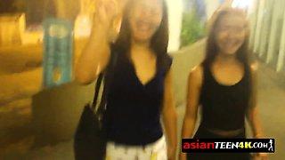 NAUGHTY FILIPINA loves LICKING her visitor's balls