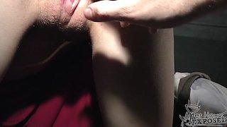 21yo Rebeka Still A Virgin Late Night Huge Black Dildo Attempt And Finger Gaping - AfterHoursExposed