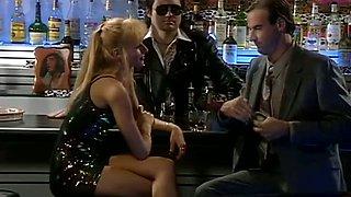 Blonde slut seduce one drunk guy and he please her butt