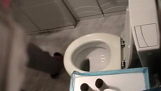Japanese wife Würstchen on toilet twice in 15 minutes