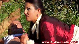 Glamorous eurobabes outdoor ffm threesome