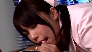 Hottest Japanese chick An Shinohara in Crazy Foot Job, Cunnilingus JAV movie