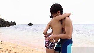 Amazing Japanese whore Saya Tachibana in Exotic Beach, Rimming JAV movie