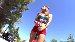 Flexible sporty girl Melanie Rios is fed up with jogging and she wanna be fucked instead