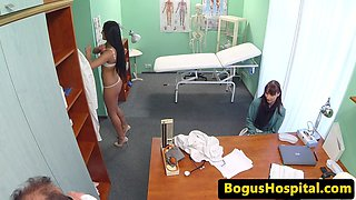 Real babe patient fucked by doctor