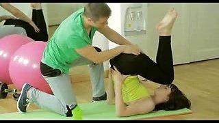 Teen pornstar Mirabella screwed in the gym