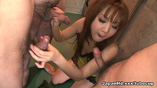 Hottest pornstar Mizuki Ishikawa in Amazing Bukkake, College xxx movie