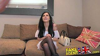 FakeAgentUK: Tight ass emo teen pops her anal cherry