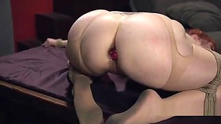 Huge tits redhead slave tits whipped