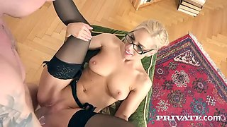 he smashes nesty a sizzling hot secretary in stockings and high heels