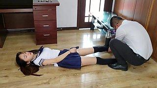 high school student cuffed