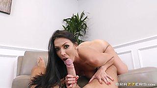 Brunette bombshell MILF Rachel Starr pussy pounded from behind