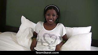 TeenyBlack Schoolgirl ebony teen Nevaeh interracial