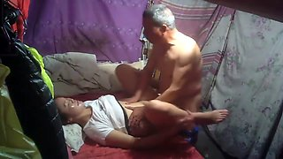 Chinese Grandpa last long with Whore